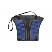 Grecian Urn Tote - Large - Sapphire Quilt, Black and Sapphire