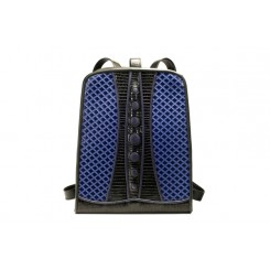 Backpack with Dots - Standard - Sapphire Quilt,Black