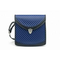 Berkeley - Medium - Sapphire Quilt, Black And Sapphire