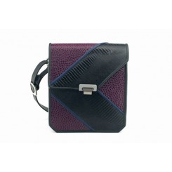 Kentfield - Medium - Aubergine Emu, Black And Sapphire