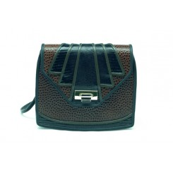 Aztec - Small - Brown Emu, Black And Olive