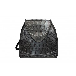 Bodega - Small - Black and Silver Croc