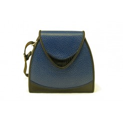 Bodega - Small - Sapphire Emu, Black And Sapphire