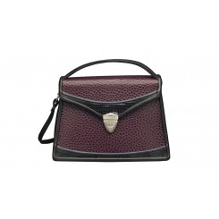 Claremont - Small - Aubergine Emu, Black and Sapphire