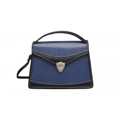 Claremont - Small - Sapphire Emu, Black and Sapphire
