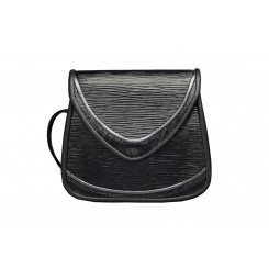 Basia - Small - Black Ripple with Grey Piping