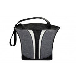 Grecian Urn Tote - Large - Grey Ripple with White and Black