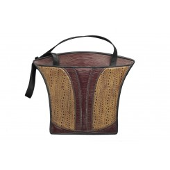 Grecian Urn Tote - Large - Honey Spice with Brown Overlay