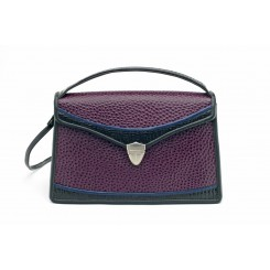 Claremont - Middy - Aubergine Emu, Black And Sapphire