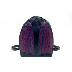 Monterey Backpack/Tote - iPad - Aubergine Emu, Black And Sapphire