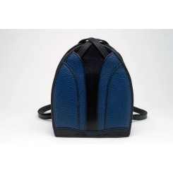 Monterey Backpack/Tote - iPad - Sapphire Emu, Black And Sapphire