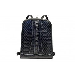 Backpack with Dots - Larger - Black Quilt, Black And Grey