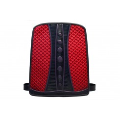 Backpack with Dots - Larger - Red Quilt, Black And Purple