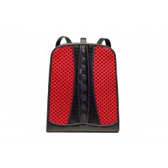 Backpack with Dots - Standard - Red Quilt, Black And Purple