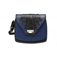 Aztec - Large - Sapphire Emu, Black And Sapphire