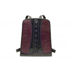 Backpack with Dots - Standard - Aubergine Ripple, Black And Sapphire