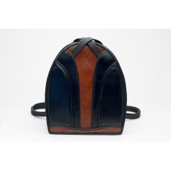 Monterey Backpack/Tote - iPad - Black And Cedar Burma