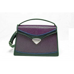 Claremont - Medium - Aubergine Emu, Black And Sapphire