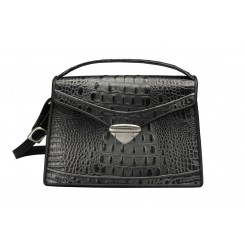 Claremont - Medium - Black/Silver Croc