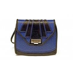 Aztec - Small - Sapphire Emu, Black And Sapphire