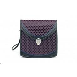 Berkeley - Small - Aubergine Quilt, Black And Sapphire