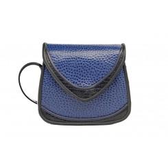 Basia - Small - Sapphire Emu, Black And Sapphire