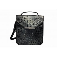 Greg's Bag - Large - Black/Silver Croc