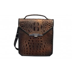 Greg's Bag - Large - Bronze Croc
