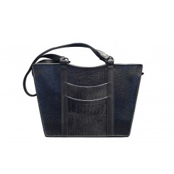 Gayle's Tote - Larger - Black Emu, Black And Grey
