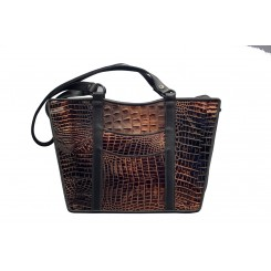 Gayle's Tote - Larger - Bronze Croc