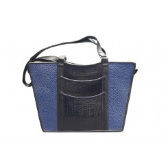 Gayle's Tote - Larger - Sapphire Emu, Black And Sapphire