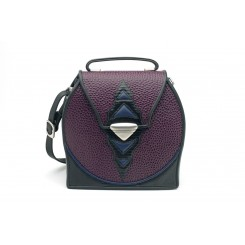 Shasta - Medium - Aubergine Emu, Black And Sapphire